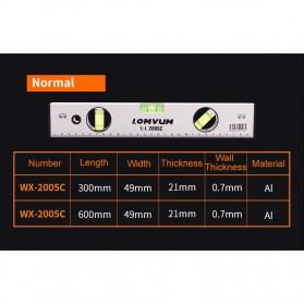 Lomvum Spirit Level Bubble Magnetic 300mm - WX-2005C - Silver - 3