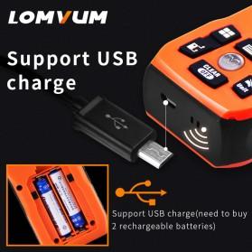 Lomvum Pengukur Jarak Digital Range Finder Laser 40M - LV-Plus - Orange - 3