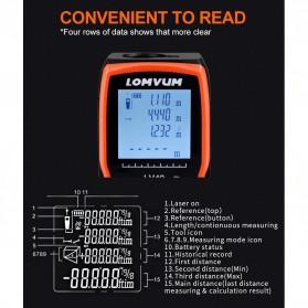 Lomvum Pengukur Jarak Digital Range Finder Laser 40M - LV-Plus - Orange - 8