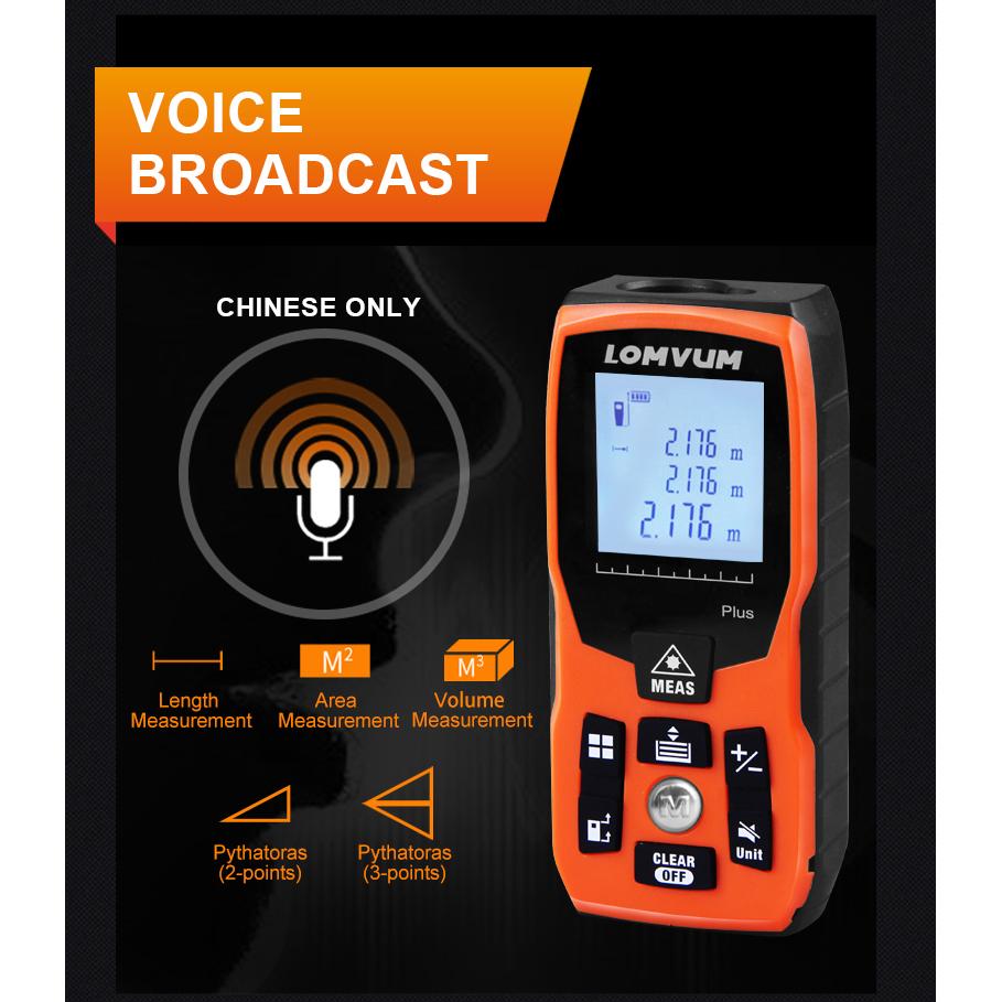 Lomvum Pengukur Jarak Digital Range Finder Laser 40m Orange Distance Meter Alat 100 M 5