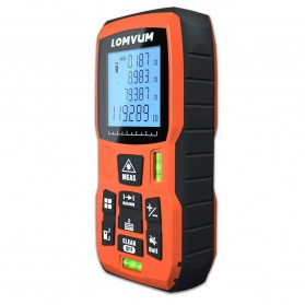 Lomvum Pengukur Jarak Digital Range Finder Laser 60M - LV-60 - Orange - 2