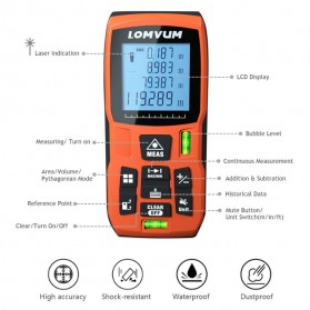 Lomvum Pengukur Jarak Digital Range Finder Laser 60M - LV-60 - Orange - 3