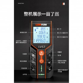 Lomvum Pengukur Jarak Digital Range Finder Laser 120M - LV-120 - Orange - 6