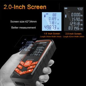 Lomvum Pengukur Jarak Digital Laser Distance Meter Range Finder  50M - LV66U - Black - 2