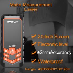 Lomvum Pengukur Jarak Digital Laser Distance Meter Range Finder  50M - LV66U - Black - 3