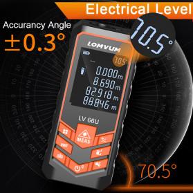 Lomvum Pengukur Jarak Digital Laser Distance Meter Range Finder  50M - LV66U - Black - 4