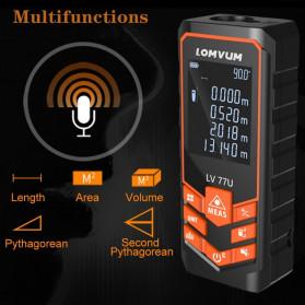 Lomvum Pengukur Jarak Digital Laser Distance Meter Range Finder  50M - LV66U - Black - 5