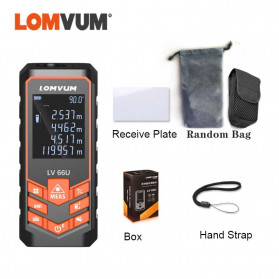Lomvum Pengukur Jarak Digital Laser Distance Meter Range Finder  50M - LV66U - Black - 6