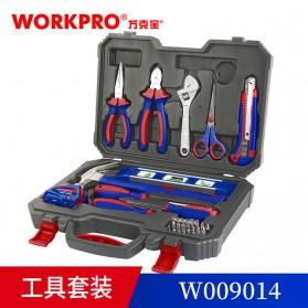 WORKPRO Alat Set Perkakas Palu Tang Obeng Kunci Pas Meteran 28 in 1 - W009014