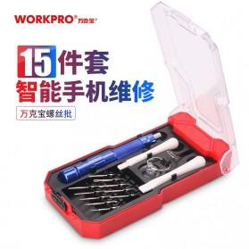 WORKPRO Alat Set Perkakas Obeng Set Opening Tool Sim Card Pin 15 in 1 - W021184