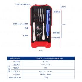 WORKPRO Alat Set Perkakas Obeng Set Opening Tool Sim Card Pin 15 in 1 - W021184 - 6