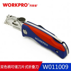 WORKPRO Pisau Lipat Cutter EDC - W011009 - Blue/Red