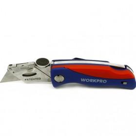 WORKPRO Pisau Lipat Cutter EDC - W011009 - Blue/Red - 5