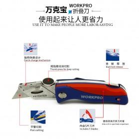 WORKPRO Pisau Lipat Cutter EDC - W011009 - Blue/Red - 6