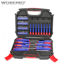 WORKPRO Peralatan Obeng Set 55 in 1 - W009013AE - Black - 1