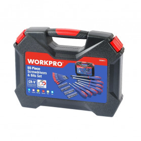 WORKPRO Peralatan Obeng Set 55 in 1 - W009013AE - Black - 7