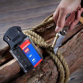 WORKPRO Pisau Lipat Cutter EDC Wood Handle with 10 PCS Blade - W011021AE - 6