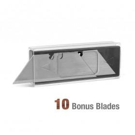 WORKPRO Pisau Lipat Cutter EDC Wood Handle with 10 PCS Blade - W011021AE - 8