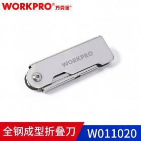 WORKPRO Pisau Lipat Cutter EDC 3 PCS - W011020 - Silver - 4