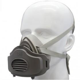 3M Masker Gas Respirator dengan 1 Filter 3701 - 3200 - Gray