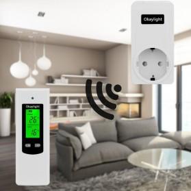 Okaylight Stop Kontak Wireless Thermostat Temperatur - OPS100+OTS001 - White - 3