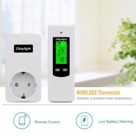 Okaylight Stop Kontak Wireless Thermostat Temperatur - OPS100+OTS001 - White - 4
