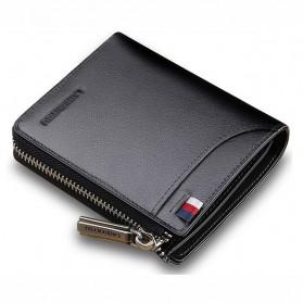 LAORENTOU Dompet Kartu Bahan Kulit Sapi - Black