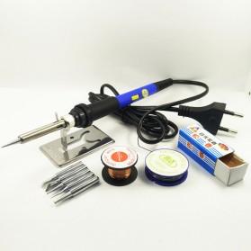 DGKS Solder Adjustable Temperature 220V 60W Welding Tool Kit - Blue