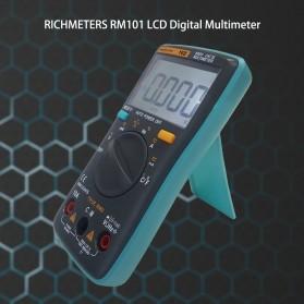 RICHMETERS Pocket Size Digital Multimeter AC/DC Voltage Tester with Temperature Measurement - RM102 - Black - 6