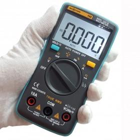 RICHMETERS Pocket Size Digital Multimeter AC/DC Voltage Tester with Temperature Measurement - RM102 - Black - 7