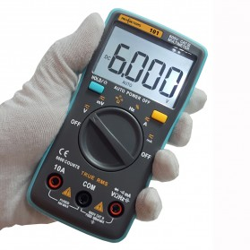 RICHMETERS Pocket Size Digital Multimeter AC/DC Voltage Tester - RM101 - Black - 2