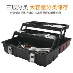 CREST Tool Box Kotak Perkakas 17 Inch - Brown - 4