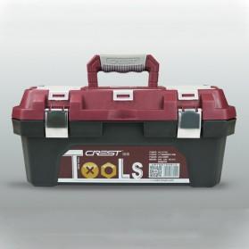 CREST Tool Box Kotak Perkakas 14 Inch - Brown