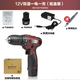 CREST Bor Listrik Cordless Power Drill Single Lithium-ion 12V - Brown - 4