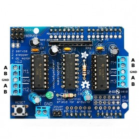Peripheral Parts LAN Card, Sound Card, PCI Card, PCMCIA Card, Express Card - Arduino L293D Driver Motor Shield - Blue