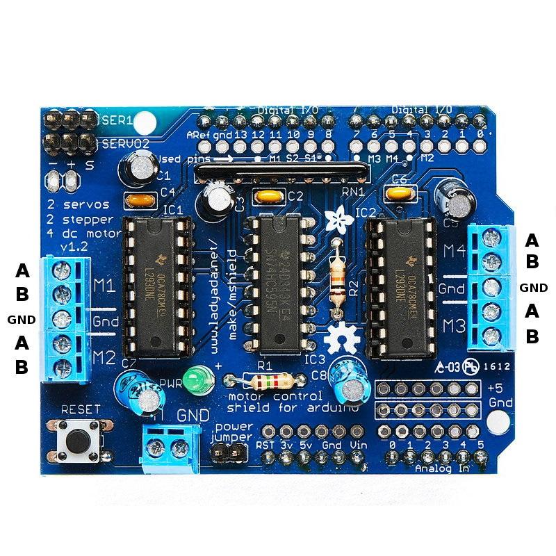 Arduino L293d Driver Motor Shield Blue