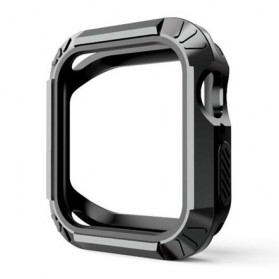 Full Cover Protector Case PC + Silicone for Apple Watch 4 44mm - WC0006 - Black