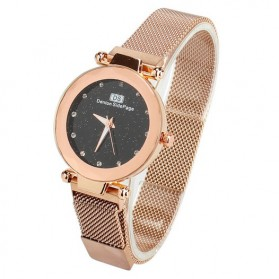 Demton SidPega Jam Tangan Analog Wanita Luxury Starry Sky - LJS057 - Rose Gold