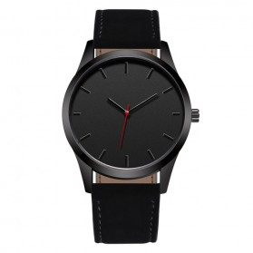JEANE CARTER Jam Tangan Kasual Pria PU Leather - T1400 - Black - 1