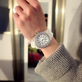 GENEVA Jam Tangan Kasual Pria Wanita dengan LED Luminous - G508L - White