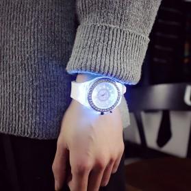 Geneva Jam Tangan Kasual Pria Wanita dengan LED Luminous - G508L - White - 2