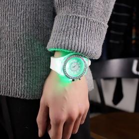 Geneva Jam Tangan Kasual Pria Wanita dengan LED Luminous - G508L - White - 3