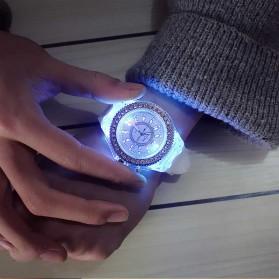 Geneva Jam Tangan Kasual Pria Wanita dengan LED Luminous - G508L - White - 7