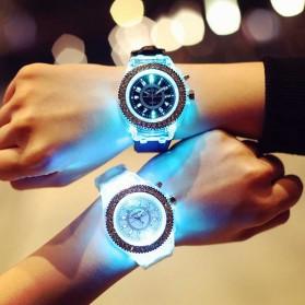 Geneva Jam Tangan Kasual Pria Wanita dengan LED Luminous - G508L - White - 8