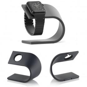 Alloet Metal Aluminium Bracket Stand for Apple Watch - 134054 - Black