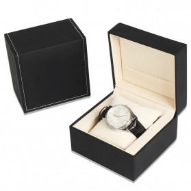 Qiwatch Kotak Jam Tangan Watch Box Size L - Qi1 - Black
