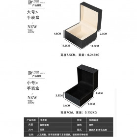 Qiwatch Kotak Jam Tangan Watch Box Size L - Qi1 - Black - 10