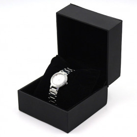 Qiwatch Kotak Jam Tangan Watch Box Size S - Qi1 - Black - 2