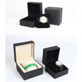 Qiwatch Kotak Jam Tangan Watch Box Size S - Qi1 - Black - 6