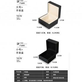 Qiwatch Kotak Jam Tangan Watch Box Size S - Qi1 - Black - 9